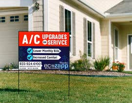 #34 for Yard Sign Design for HVAC - for Customer front yard by inventick
