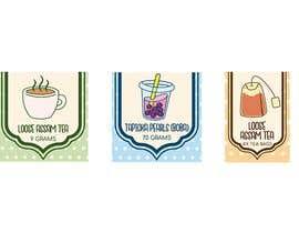 nº 3 pour 3 simple minimalist sticker labels for different products par ulak