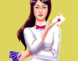 #3 para Illustration of a female joker or croupier de jasongcorre
