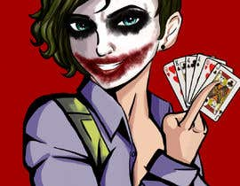 #12 para Illustration of a female joker or croupier de betaniaGremory