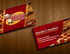 nº 34 pour Design some Business Cards for Maka Mia Pizza par acelobos9