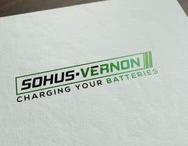 #9 for I need a logo designed.   With box around the below :   SOHUS•VERNON  charging your batteries  Coulours white / green / greys  High quality   Clear back ground in all formats to be supplied by NeriDesign