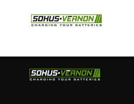 #17 for I need a logo designed.   With box around the below :   SOHUS•VERNON  charging your batteries  Coulours white / green / greys  High quality   Clear back ground in all formats to be supplied by NeriDesign