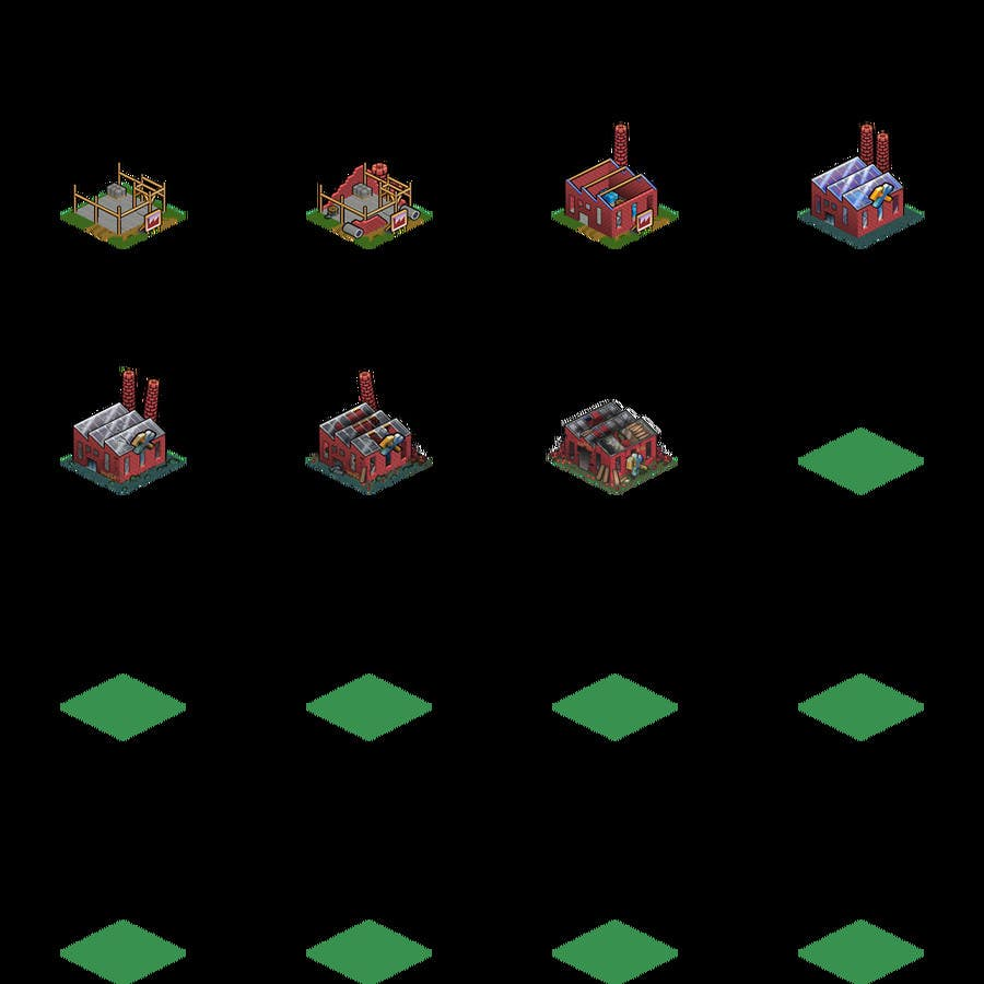 Contest Entry #9 for 50 isometric building designs for iPhone/Android city building game