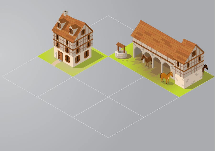 Contest Entry #3 for 50 isometric building designs for iPhone/Android city building game