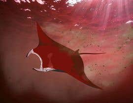 #6 for Draw graphic of a manta ray buffeted by wind by ayoubrachid1