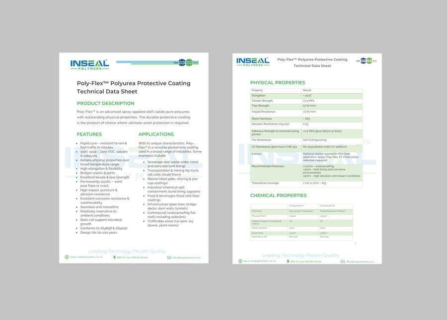 Konkurrenceindlæg #32 for product data sheet