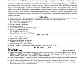 #1 for CV/resume rewriting with professional approach. by Elan1