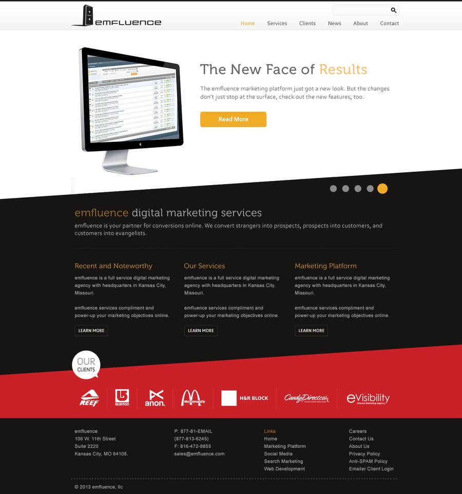 #61 for Website Design, Responsive, HTML5 by iamheretodesign