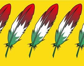 #16 para Draw a picture of a bird feather with Italian colors por DagmaCreative
