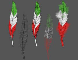 #3 para Draw a picture of a bird feather with Italian colors por JackArevalo