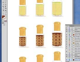 #34 para illustrate Oud perfume bottle and insert into poster de yvilera