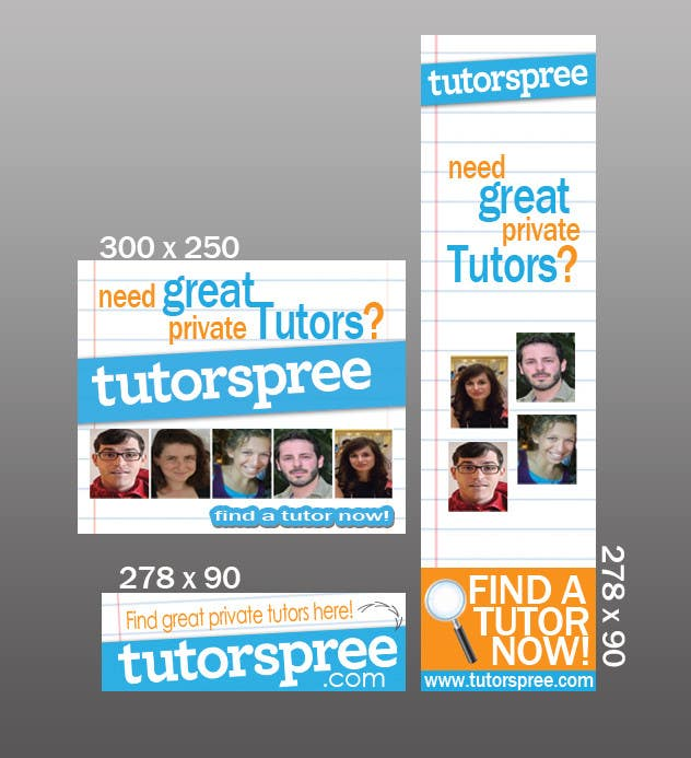 Contest Entry #                                        33                                      for                                         Banner Ad Design for www.tutorspree.com