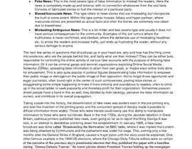 #10 for Write only two-page introduction on fake news and hoaxes by ridaarshad97