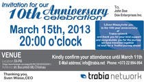 Graphic Design Contest Entry #72 for Corporate Party Invitation Design for 10th anniversary