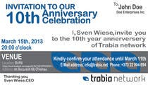 Graphic Design Contest Entry #77 for Corporate Party Invitation Design for 10th anniversary