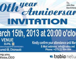 #61 para Corporate Party Invitation Design for 10th anniversary por dworker88