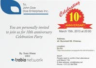 Graphic Design Contest Entry #126 for Corporate Party Invitation Design for 10th anniversary