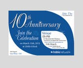 #83 for Corporate Party Invitation Design for 10th anniversary by faisalkreative