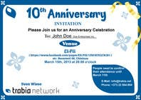 Graphic Design Contest Entry #86 for Corporate Party Invitation Design for 10th anniversary