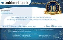 #102 for Corporate Party Invitation Design for 10th anniversary by salunkeswagat