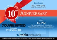 #127 for Corporate Party Invitation Design for 10th anniversary by quaarc