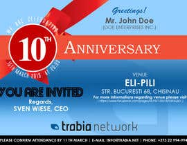 #127 para Corporate Party Invitation Design for 10th anniversary por quaarc