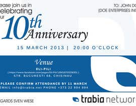 #55 para Corporate Party Invitation Design for 10th anniversary por edendesignstudio