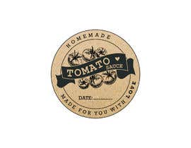 "#8 for 2.5"" round labels for Homemade Tomato Suace in a jar af sharminbohny"