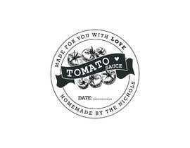 "#13 for 2.5"" round labels for Homemade Tomato Suace in a jar af sharminbohny"