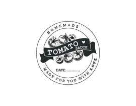 "#14 for 2.5"" round labels for Homemade Tomato Suace in a jar af sharminbohny"