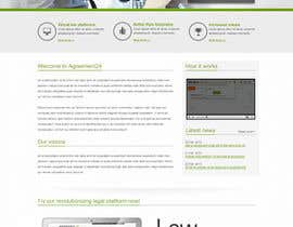 nº 6 pour Graphic redesign - FRONT PAGE and sub template - agreement24.com website par herick05