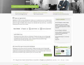 nº 11 pour Graphic redesign - FRONT PAGE and sub template - agreement24.com website par Pavithranmm