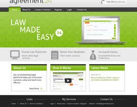 #14 for Graphic redesign - FRONT PAGE and sub template - agreement24.com website af vigneshhc