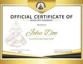#6 for Design a Martial Arts rank certificate by sununes