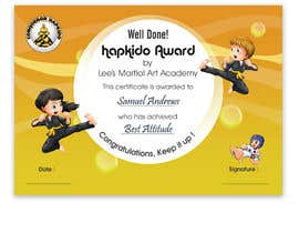 #27 for Design a Martial Arts rank certificate by DhanvirArt