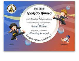 #29 for Design a Martial Arts rank certificate by DhanvirArt