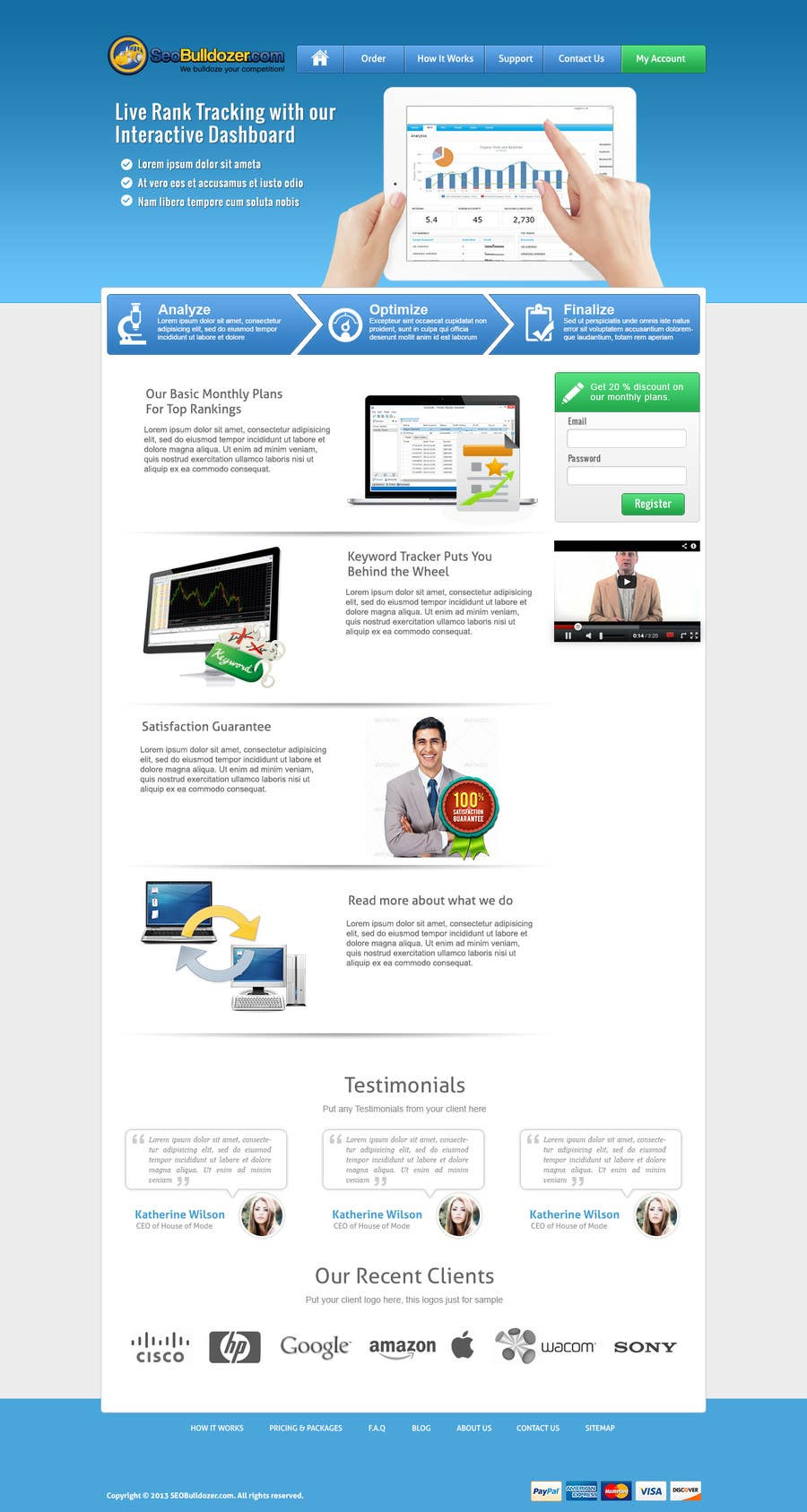 #3 for Website Design for SeoBulldozer.com - wordpress theme by abatastudio