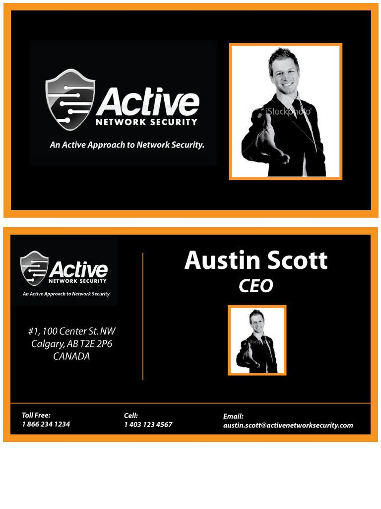 Contest Entry #161 for Business Card Design for Active Network Security.com