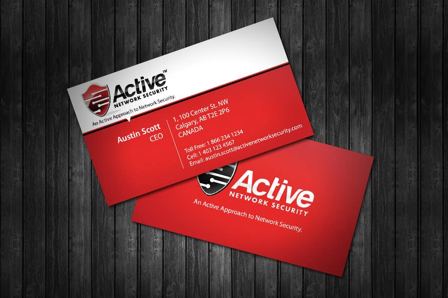 Contest Entry #11 for Business Card Design for Active Network Security.com