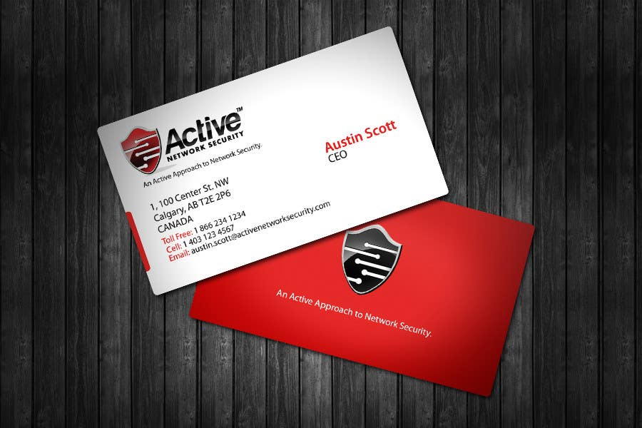 Contest Entry #30 for Business Card Design for Active Network Security.com