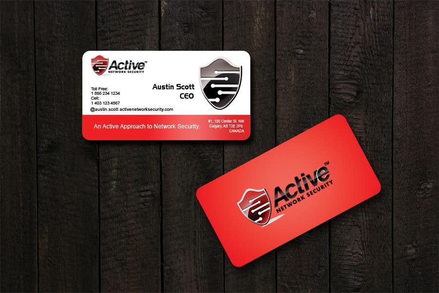 Contest Entry #107 for Business Card Design for Active Network Security.com