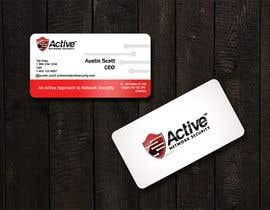 #113 для Business Card Design for Active Network Security.com от kinghridoy