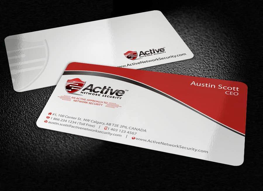 Contest Entry #98 for Business Card Design for Active Network Security.com