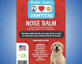 #21 for Design label for diferent organic natural dog balm for nose, paws and skin af kiritharanvs2393