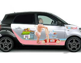 #18 for Design a Car Branding Adverstisement on Smart ForFour by banduwardhana