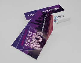 #22 untuk design ticket and roll up banner for an 80's themed party oleh jaimegrafick