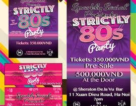#37 untuk design ticket and roll up banner for an 80's themed party oleh Venicejzb