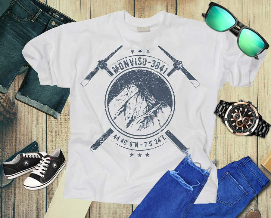 Penyertaan Peraduan #85 untuk Design Mountain T-Shirt