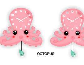 Nro 116 kilpailuun Simple Cartoon clock design käyttäjältä istykristanto